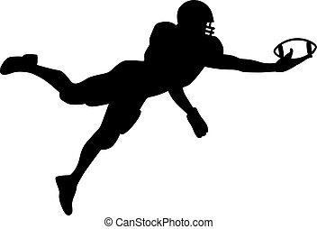 American Football jumping quarterback