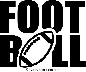 Football Word with ball