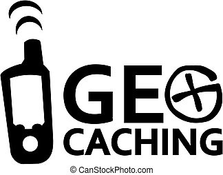 Geocaching with gps device