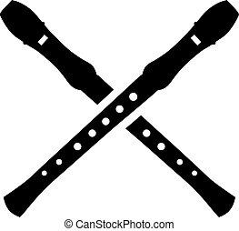 Crossed flutes