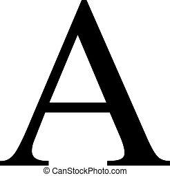 Big alpha sign
