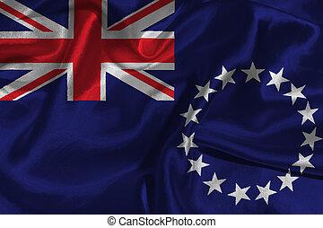 Cook Islands national flag 3D illustration symbol