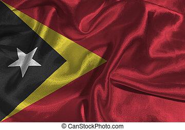 Timor Leste flag ,3D East Timor national flag 3D...