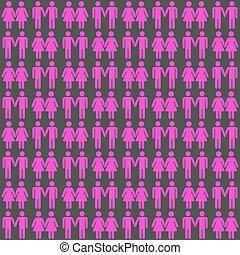 Vector gay LGBT seamless pattern. Background community...