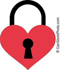 Lock as a heart