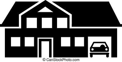 Villa house with garage