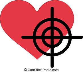 Heart with crosshair