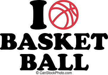 i Love heart Basketball