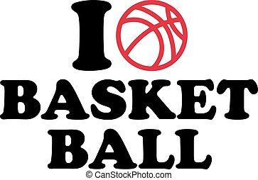 i Love heart Basketball