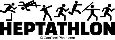 Heptathlon pictogram with word