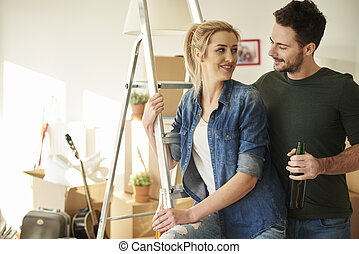 Couple making big plans at new home