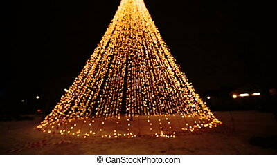 Christmas illuminations at abstract tree - Christmas...