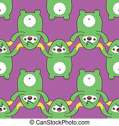 Cartoon yeti seamless pattern. illustration - Cartoon yeti...