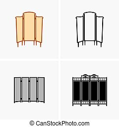 Dressing screens