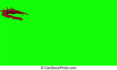 Hd Blood Burst Slow Motion (Green Screen) 36