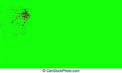 Blood Burst Slow Motion (Green Screen) 14 - Nice HD slow...
