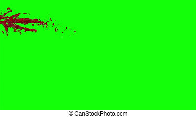 Blood Burst Slow Motion (Green Screen) 35