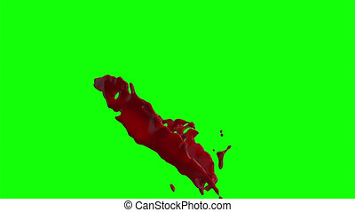 Hd Blood Burst Slow Motion (Green Screen) 74