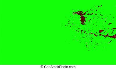 Hd Blood Burst Slow Motion (Green Screen) 62