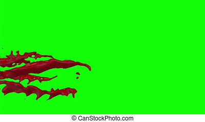 Blood Burst Slow Motion (Green Screen) 95