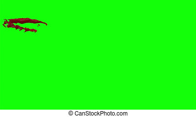 Hd Blood Burst Slow Motion (Green Screen) 25