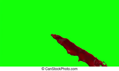 Blood Burst Slow Motion (Green Screen) 75