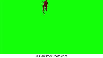 Blood Burst Slow Motion (Green Screen) 155 - Nice and real...