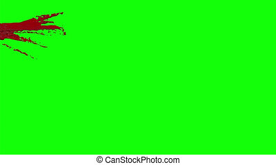 Blood Burst Slow Motion (Green Screen) 4