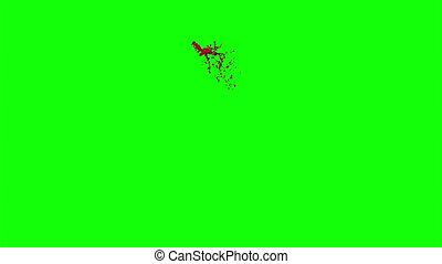 Hd Blood Burst Slow Motion (Green Screen) 119 - Nice HD slow...