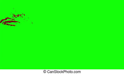 Hd Blood Burst Slow Motion (Green Screen) 37 - Nice HD slow...