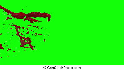 Blood Burst Slow Motion (Green Screen) 51 - Nice and real 4K...