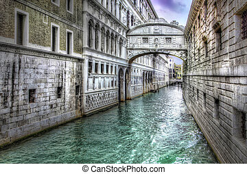 ponte dei sospiri - HDR photographic presentation of famous...