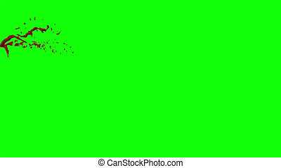 Hd Blood Burst Slow Motion (Green Screen) 40 - Nice HD slow...