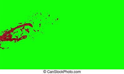 Blood Burst Slow Motion (Green Screen) 84 - Nice HD slow...