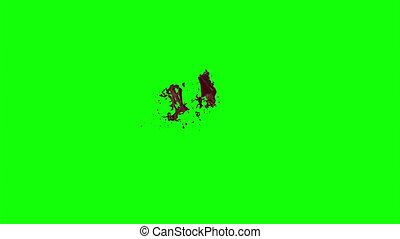 Blood Burst Slow Motion (Green Screen) 113 - Nice HD slow...