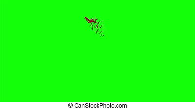 4k Blood Burst Slow Motion (Green Screen) 119 - Nice and...