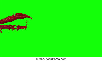 Blood Burst Slow Motion (Green Screen) 82 - Nice HD slow...