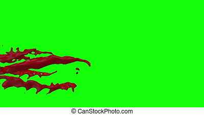 4k Blood Burst Slow Motion (Green Screen) 95 - Nice and real...