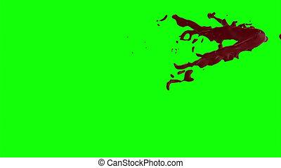 Blood Burst Slow Motion (Green Screen) 93 - Nice HD slow...