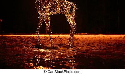 deer bright Christmas illuminations - deer bright festive...