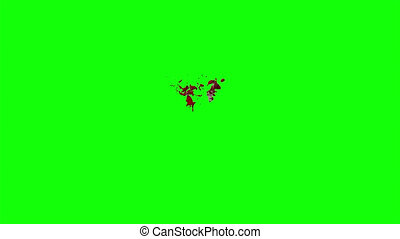 Blood Burst Slow Motion (Green Screen) 122 - Nice HD slow...