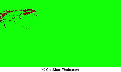 Blood Burst Slow Motion (Green Screen) 5 - Nice HD slow...