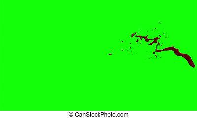 Blood Burst Slow Motion (Green Screen) 67 - Nice HD slow...