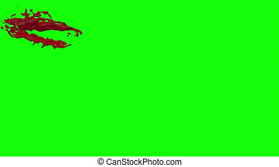 Blood Burst Slow Motion (Green Screen) 31