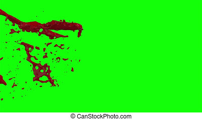 Hd Blood Burst Slow Motion (Green Screen) 51 - Nice HD slow...