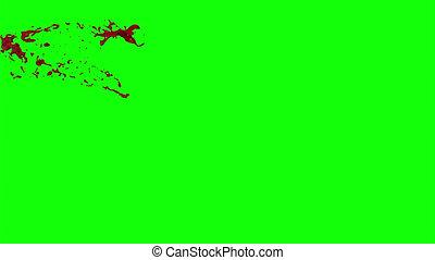 Blood Burst Slow Motion (Green Screen) 6 - Nice HD slow...