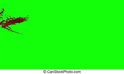 Hd Blood Burst Slow Motion (Green Screen) 99 - Nice HD slow...