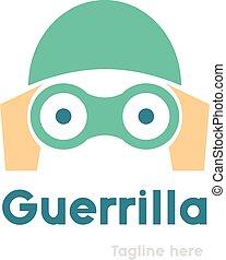 Partisan logo design. Guerrilla marketing vector logo