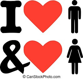 I love man and woman icon - bisexual