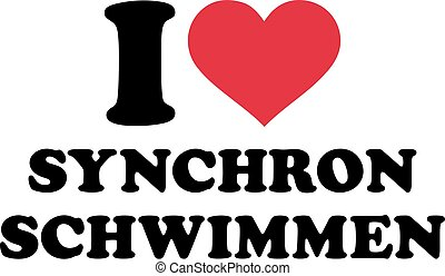I love synchronized swimming (german)